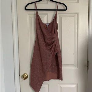 Sparkly blush Tobi envelope mini dress